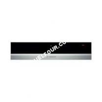 four BOSCH  630ns1 tiroir chauffant 14cm inox/noir Serie 8