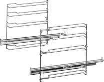 four BOSCH Hez638d10  Accessoire Rails Télescopiques À 1 Niveau, Vapeur