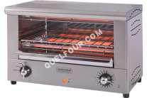 four KITCHEN CHEF Professional Salamandre - Four électrique avec grill - 2000 Watt - acier inoxydable