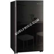 refrigerateur avec congelateur r frig rateur table top fn 15b2rnb 115 l verre noir froid. Black Bedroom Furniture Sets. Home Design Ideas