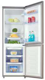 refrigerateur avec congelateur aya combin afc2502a x inox moins cher. Black Bedroom Furniture Sets. Home Design Ideas