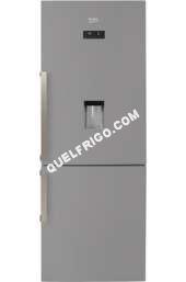 refrigerateur avec congelateur beko rcne520e31ds silver refrig rateur cong lateur en bas. Black Bedroom Furniture Sets. Home Design Ideas