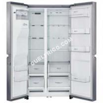 frigo LG  Réfrigérateur GSL760PZXV - Réfrigérateur/congélateur - p libre - larur : 912 cm - profondeur : 738 cm - hauteur : 179 cm - 601 litres - côte