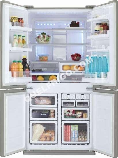 refrigerateur 4 portes sharp sjf790stsl. Black Bedroom Furniture Sets. Home Design Ideas