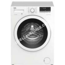 lave-linge BEKO Lave-linge WTE7633XW0 - Machine à laver - pose libre - largeur : 60 cm - profondeur : 50 cm - hauteur : 84 cm - chargement frontal - 7 kg - 1200