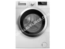 lave-linge BEKO  WDW85122 - Machine à laver séchante - pose libre - largeur : 60 cm - profondeur : 54 cm - hauteur : 84 cm - chargement frontal - 55 litres - 8 kg - 1200 tours/min - bla