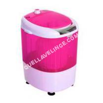 lave-linge HOMCOM  Mini machine à laver 170 W fotions lavage essorage avec minuterie rose et bla neuf 04PK