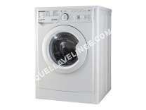 lave-linge INDESIT  MyTime EWC 81252 W FR.M - Machine à laver - pose libre - largeur : 59.5 cm - profondeur : 60 cm - hauteur : 85 cm - chargement frontal - 62 litres - 8 kg - 1200 tours/min - bla