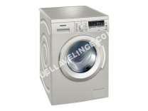 lave-linge SIEMENS  WM14Q49XFF - Machine à laver - pose libre - largeur : 59.8 cm - profondeur : 55 cm - hauteur : 84.8 cm - chargement frontal - 58 litres - 8 kg - 1400 tours/min - inox