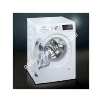 lave-linge SIEMENS iQ500 WM14T45FF  Machine à laver  pose libre  largeur : 59. cm  profondeur : 55 cm  hauteur : 4. cm  chargement frontal  5 litres   kg  1400 tours/min  blanc