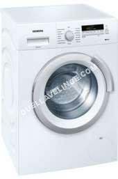 lave-linge SIEMENS iQ500 WS12K23FF  Slimline  machine à laver  pose libre  largeur : 59.8 cm  profondeur : 44. cm  hauteur : 84.8 cm  chargement frontal  4 litres   kg  1200 tours/min  blanc