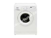 lave-linge WHIRLPOOL  AWO/D 7452 - Machine à laver - pose libre - largeur : 59.5 cm - profondeur : 56.5 cm - hauteur : 84.5 cm - chargement frontal - 54 litres - 7 kg - 1400 tours/min
