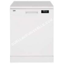 lave vaisselle BEKO SDFN15310W  Lavevaisselle  pose libre  largeur  59.8 cm  profondeur  60 cm  hauteur  85 cm  blanc