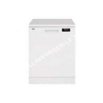 lave vaisselle BEKO TDFN15310W  Lavevaisselle  pose libre  hauteur  85 cm  blanc