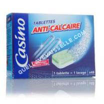 lave vaisselle CASINO  Lot de 48 pastilles anti-calcaire - 720 g
