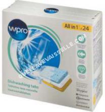 lave vaisselle WPRO Pack de 24 tablettes tout en 1