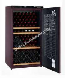 cave-à-vin CLIMADIFF Cave  vin de vieillissement  170 bouteilles porte pleine Cv182 Noir