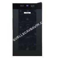 cave-à-vin Vinolux Cave de chambrage effet miroir Noir 18 bouteilles  Vxc18M