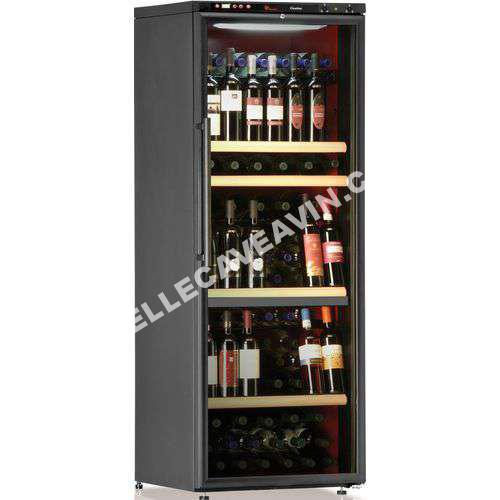 calice cave vin de service 2 temp 116 bouteilles noir aci cal206p pose libr. Black Bedroom Furniture Sets. Home Design Ideas