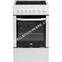 cuisinière    CSS57101GW-Cuisini?re table vitrocéramique-4 zones-Four électrique-Catalyse-60 L-Classe A-L50 x H 85 cm-Bla