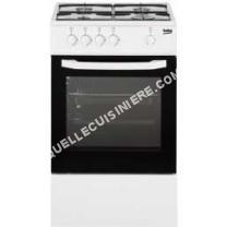 cuisinière BEKO CSG2000WN  Cuisinière table gaz   foyers  Four gaz  56  50  H85cm  Blanc