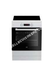 cuisinière BEKO Beko Cuisinière Électrique A 72l 3 Feux Induction Blanc Fse69gw