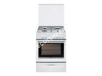 cuisinière BRANDT BCG6611W  Cuisinière  pose libre  largeur : 59.5 cm  profondeur : 60 cm  hauteur : 85 cm  avec système autonettoyant  classe   blanc