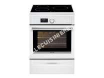 cuisinière BRANDT BCI6641W  Cuisinière  pose libre  largeur : 60 cm  profondeur : 61.8 cm  hauteur : 85 cm  avec système autonettoyant  classe   blanc