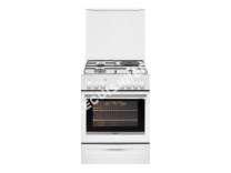 cuisinière BRANDT BCM665W  Cuisinière  pose libre  largeur  60 cm  profondeur  61.8 cm  hauteur  85 cm  avec système autonettoyant  blanc
