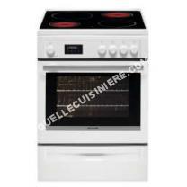 cuisinière BRANDT BCV6650W  Cuisinière table vitrocéramique4 foyers10183 kWFour électrique multifonctionPyrolyse57LAL60xH85cmBlanc
