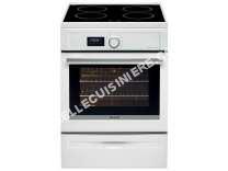 cuisinière BRANDT KIP100W  Cuisinière table induction  4 zones  9,283Wmax  Four multifonction Pyrolyse  57L    L60xH85cm  Blanc