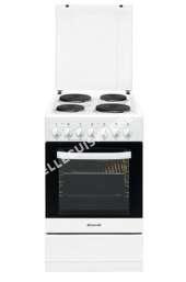 cuisinière BRANDT KE1500W  Cuisinière  pose libre  largeur : 50 cm  profondeur : 63.4 cm  hauteur : 8.5 cm  avec système autonettoyant  classe   blanc