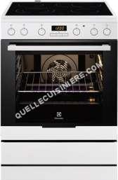 cuisinière ELECTROLUX EKC6450COS  Cuisinière  pose libre  largeur  59.6 cm  profondeur  60 cm  hauteur  85 cm  avec système autonettoyant  classe  10%  argenté(e)