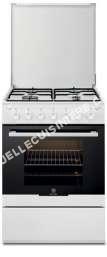 cuisinière ELECTROLUX EKG6110OW  Cuisinière  pose libre  largeur : 60 cm  profondeur : 60 cm  hauteur : 86.5 cm  avec système autonettoyant  classe   blanc