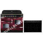 cuisinière FALCON Piano de uisson indution  DELU110 INDUC ROUGE/LAITON