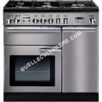 cuisinière FALCON Piano de cuisson gaz  PROFESSIONAL  90 MIXTE INOX/CHROME  Crédence  CREDENCE 90 INOX  Hotte grande largeur  90 INOX