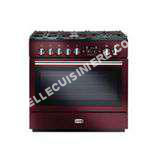 cuisinière FALCON Piano de cuisson gaz  PROF90FX MIXT ROUGE AIRELLE  Hotte grande largeur  90 INOX