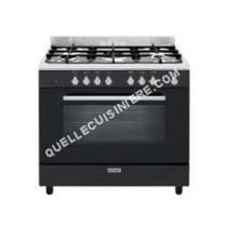 cuisinière GLEM GAS Gas  eCooker GE960CVBK  Cuisinière  pose libre  largeur  90 cm  profondeur  60 cm  hauteur  91 cm  avec système autonettoyant  Black