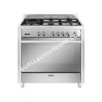 cuisinière GLEM GAS Gas   GX960CQIX  Cuisinière  pose libre  largeur : 90 cm  profondeur : 60 cm  hauteur : 92 cm  avec système autonettoyant  classe   acier inoxydable