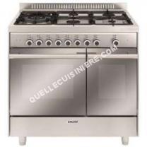 cuisinière GLEM GAS Gas   GXD96CVIX  Cuisinière (four à deux étages)  pose libre  largeur : 90 cm  profondeur : 60 cm  hauteur : 92 cm  avec système autonettoyant  classe   acier inoxydable
