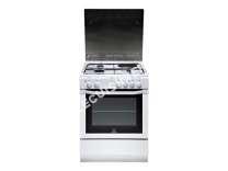 cuisinière INDESIT Cuisinière Mixte 59l  Feux Noir/Blanc I6m6cag(W)/Fr