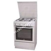 cuisinière INDESIT I6GG1F.1(W)/I  Cuisinière  pose libre  largeur  60 cm  profondeur  60 cm  hauteur  85 cm  blanc