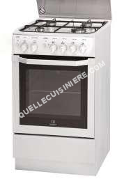 cuisinière INDESIT Full Glass I5GGC1G(W) FR  Cuisinière  pose libre  largeur : 50 cm  profondeur : 60 cm  hauteur : 85 cm  avec système autonettoyant  classe   blanc
