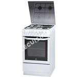 cuisinière INDESIT IW5MSCGA (W)FR -Cuisinière table mixte gaz  électrique-4 zones-7900W-Four électrique-Catalyse-61L-A-L50xH85cm-Blanc