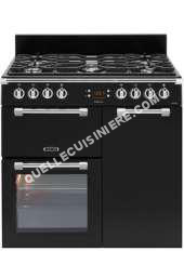 cuisinière LEISURE Cookmaster CK90F324K  Cuisinière (four  deux étages)  pose libre  largeur  90 cm  profondeur  60 cm  hauteur  90 cm  avec système autonettoyant  noir