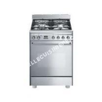 cuisinière SMEG GP61X9  Cuisinière  pose libre  largeur : 60 cm  profondeur : 60 cm  hauteur : 86 cm  avec système autonettoyant  classe   inox