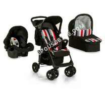 poussette GARMOL  - Shopper Trio Set + si?ge auto groupe 0 + landau souple - rainbow/black - Pack poussette