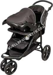 Poussette-3-roues TEX BABY COMI ROUES TE moins cher
