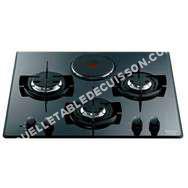 table de cuisson HOTPOINT-ARISTON Table de cuisson mixte TD63S BK 60 cm 3 foyers gaz   foyer électrique