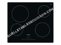 table de cuisson BOSCH PKE611FN1E  Vitrocéramique  4 plaques de cuisson  Niche  largeur : 56 cm  profondeur : 49 cm  noir   cadre  noir